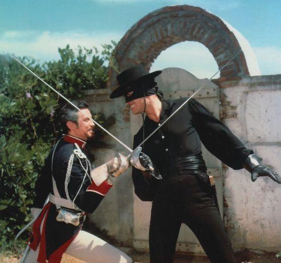 Zorro and Capitan Monastario crossed swords