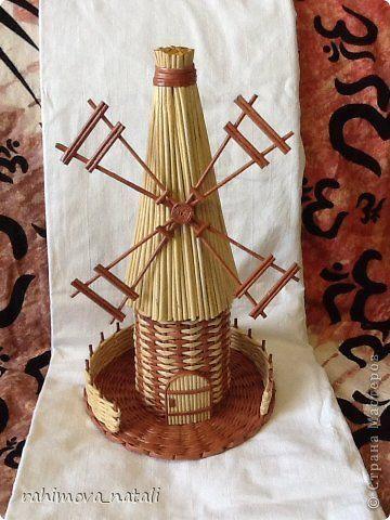 Поделка изделие Плетение Мои мельницы Бумага газетная фото 6