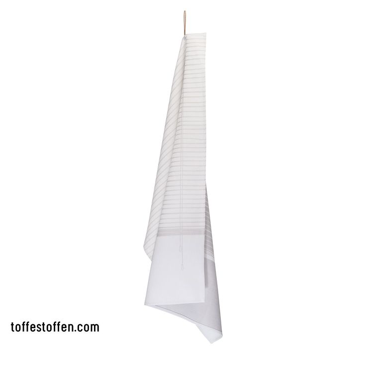 Elegant - grey. 100% bio cotton. Woven in Dutch TextileMuseum Tilburg. Loop is extension of the print. www.toffestoffen.com