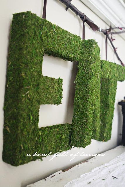 Create your own Pottery Barn-inspired moss-covered letters, just in time for spring. | 35 Money-Saving Home Decor Knock-Offs