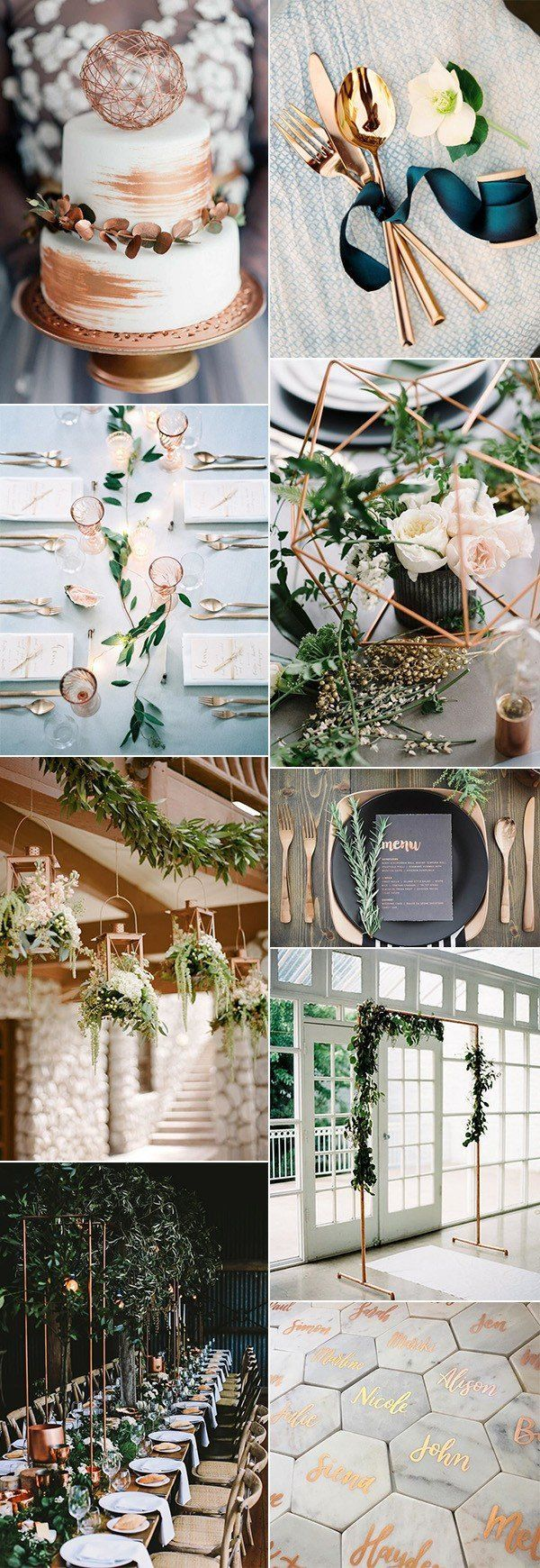 Trending-20 Metallic Bronze and Copper Wedding Color Ideas – Wedding Day Details