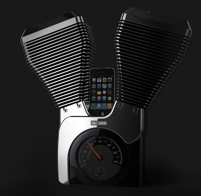 Harley-Davidson Speaker Dock by Woohyeok