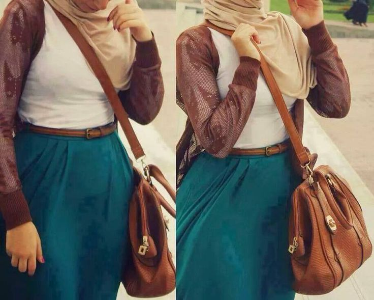 tan leather jacket with green maxi skirt http://www.justtrendygirls.com/modest-street-hijab-fashion/