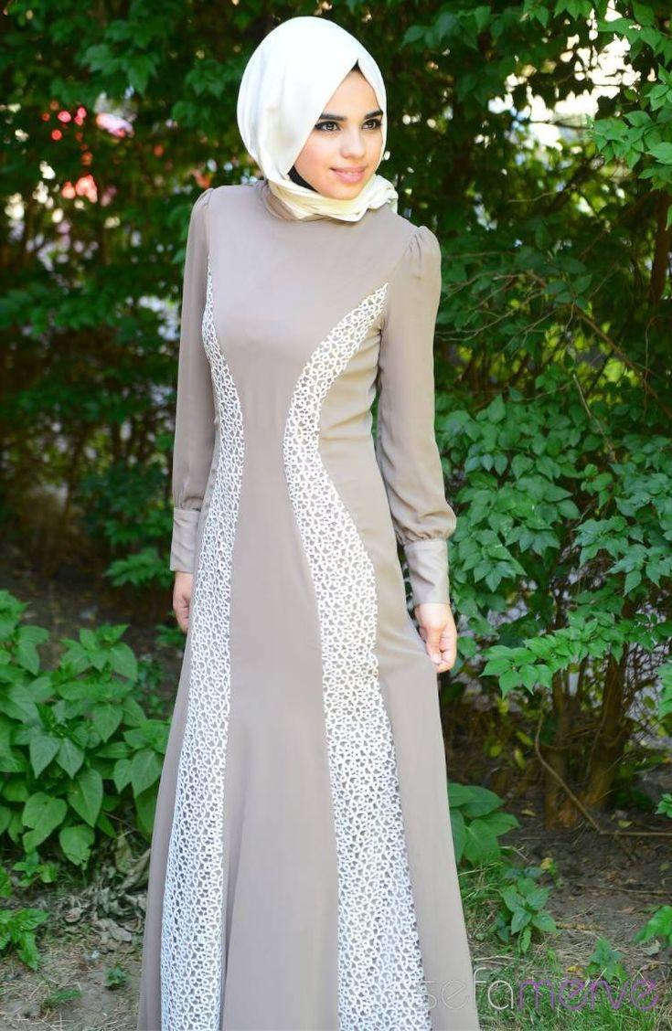 Tesettür Elbise Vizon 89.90 TL #sefamerve #tesettur #tesetturgiyim #elbise#yenisezon #2014 #Hijabdress #Hijab #newseason
