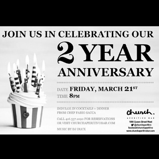 Have you marked your calendars? We're celebrating a birthday . . . #Toronto #QueenWest