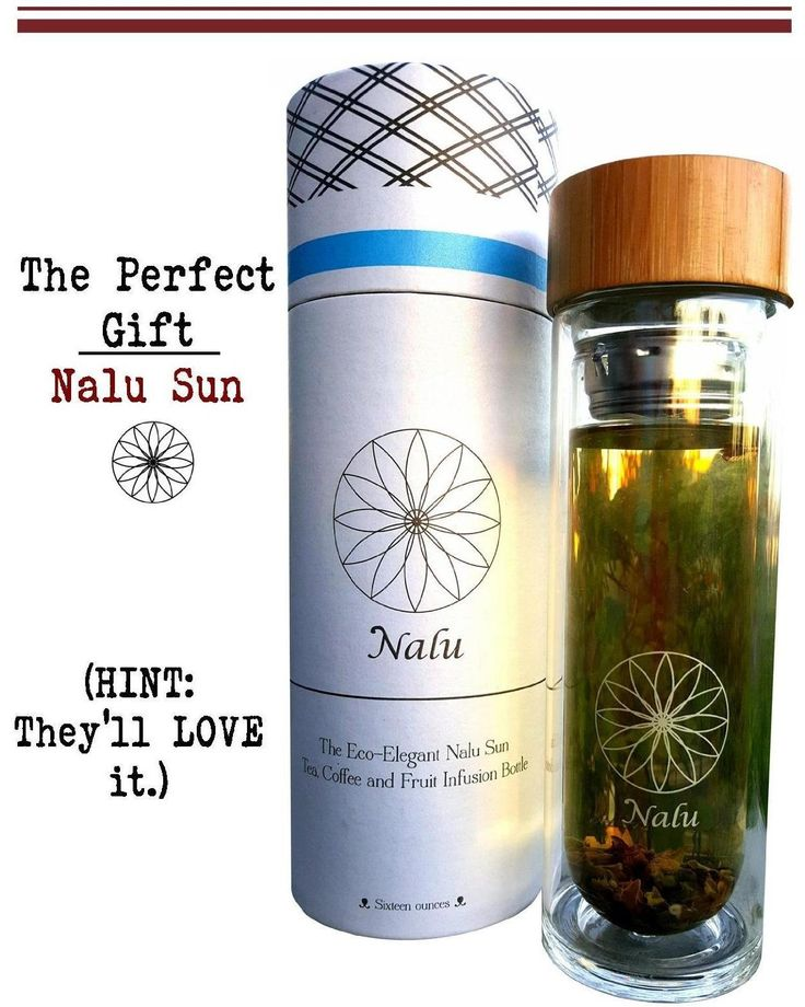 Amazon.com Glass Water Bottle - The Sun Bottle by Nalu: Fruit Infuser, Coffee Maker ...