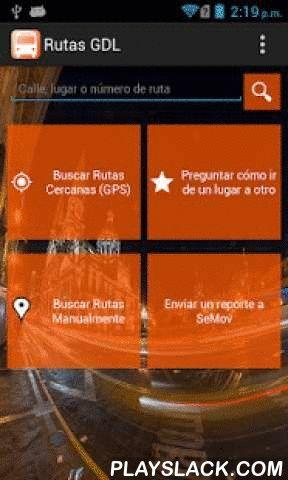 """Rutas GDL  Android App - playslack.com ,  Rutas GDL es una aplicación para consultar la base de datos de rutas de camiones de la ciudad de Guadalajara Jalisco, México. ¡Encuentra las rutas cercanas a tu ubicación mientras caminas por la ciudad!***************************************************Nuevas Funciones de la versión 2.0:¡Mapas """"offline"""" (sin conexión a internet)!Ubicación por GPS mejorada.Algunas correcciones de bugs menores.Menor consumo de memoria. Routes GDL is an application to…"""
