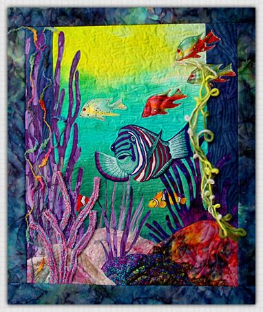 2 Full-Day Workshops Still available: Seascapes Saturday, March 28 | 9a-4p taught by Marjan Kluepel - influenced by her love of natural and all its wonders! #Quiltfest Destination Savannah #quilting #quilts