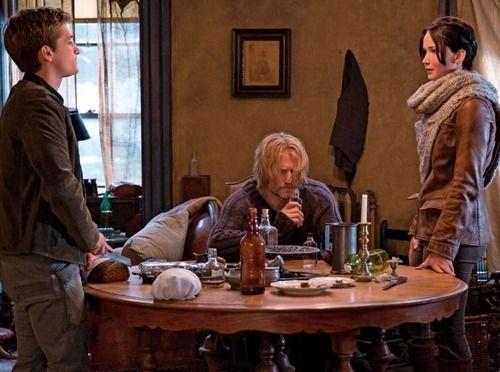 Better quality Katniss, Peeta and Haymitch still
