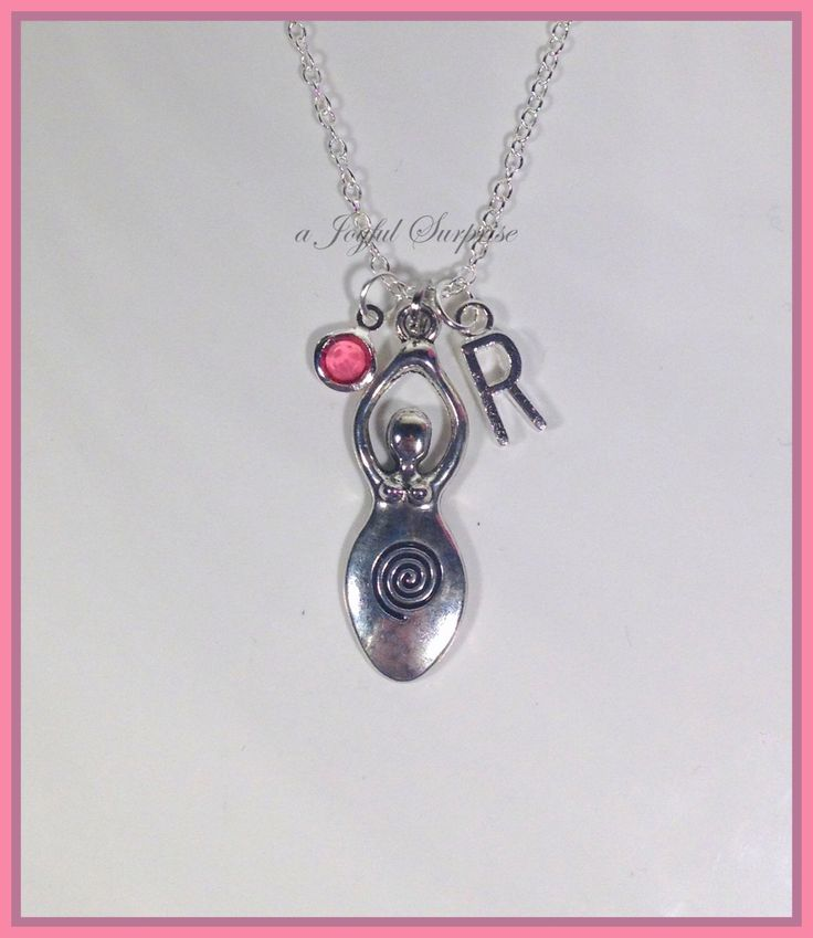 Venus of Willendorf Fertility Goddess Necklace, Zen Necklace, Meditation Necklace, Good luck Necklace with initial and birthstone - N1194 s6  A personal favorite from my Etsy shop https://www.etsy.com/ca/listing/252329018/venus-of-willendorf-fertility-goddess