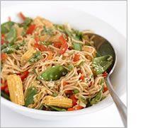 Asian noodle salad   www.mediterrasian.com