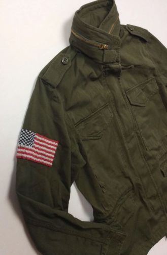 Ralph-Lauren-Denim-Supply-Women-Beaded-American-Flag-Military-Army-Field-Jackets