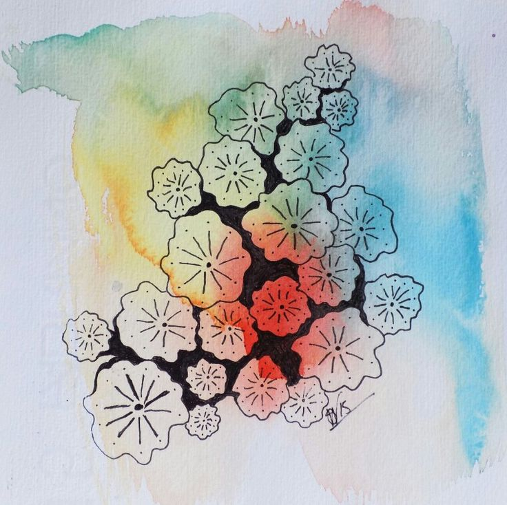 Sarah Wherry Art Small Works Series Nature Study 2 Watercolour and Indian Ink