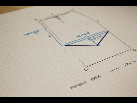 CURSO. Aprender a coser faldas parte 2: Modificar el patrón faldas rectas.