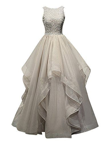 Dresstells® Long Prom Dress Asymmetric Bridesmaid Dress Beaded Organza Gown Dresstells http://www.amazon.co.uk/dp/B018G59A7O/ref=cm_sw_r_pi_dp_Bx5Dwb0Q3E36