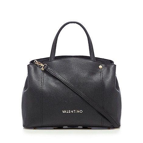 Valentino Black three compartment tote bag | Debenhams