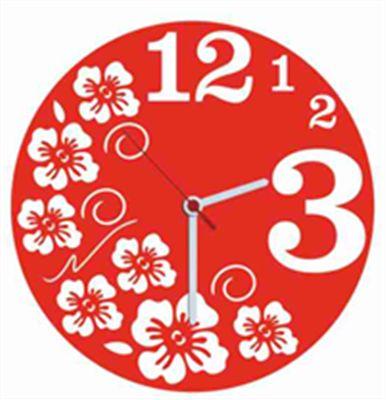 Fresh Kırmızı Kadife Duvar Saati 33 cm   cazip geldi