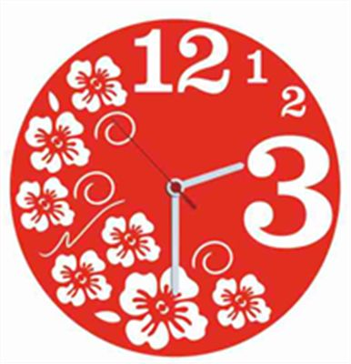 Fresh Kırmızı Kadife Duvar Saati 33 cm | cazip geldi