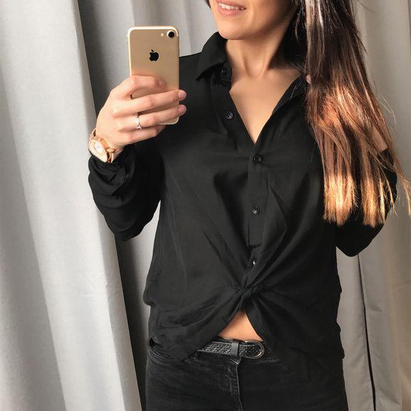 Chemise Lacets Morgane noir