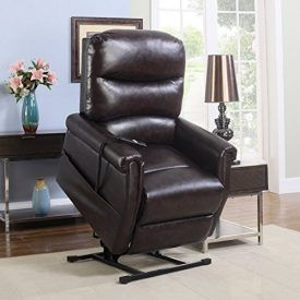 Ultra plush living room recliner power lift chair allowing effortless rise from sitting position. Reclining and lifting mechanism can be controlled by a attached remote control – This recliner is powered by a silent motor. Chair is upholstered by a super soft and comfortable bonded leather. Designed to fully recline and provide ultimate comfort. Some […]