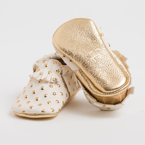 Freshly Picked gold moccasins.