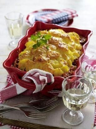Das Rezept für Kartoffel-Gratin a la Bolognese