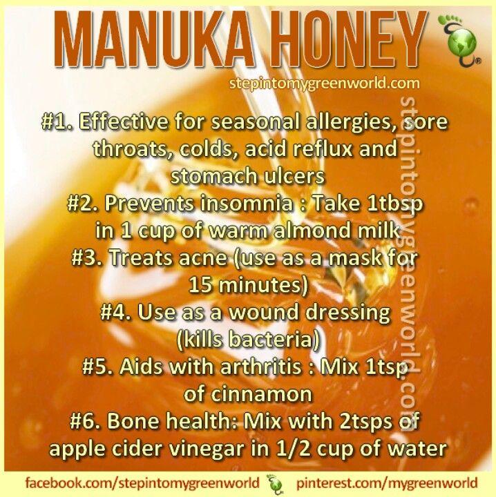 Manuka honey holistic living pinterest health honey and benefits of - Benefits of manuka honey the natural antibiotic ...
