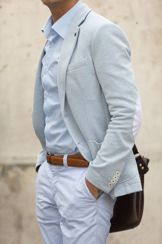 Light grey and white pants suit | Dressed Up Men's Apparel