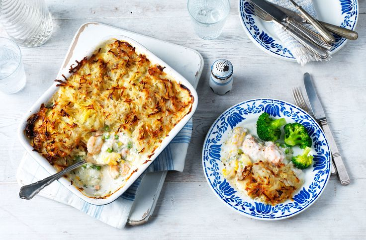 A hearty potato-topped pie brimming with fresh fish & seafood. Delicious & good for you too! See more healthy recipes & healthy swaps at Tesco Real Food.