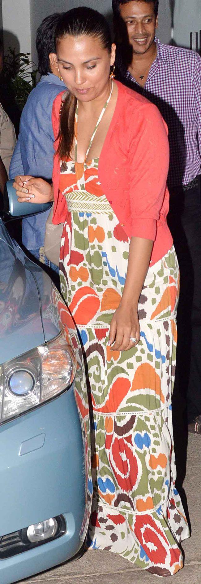 Lara Dutta and husband Mahesh Bhupathi at special screening of 'Ek Villain'. #Style #Bollywood #Fashion #Beauty