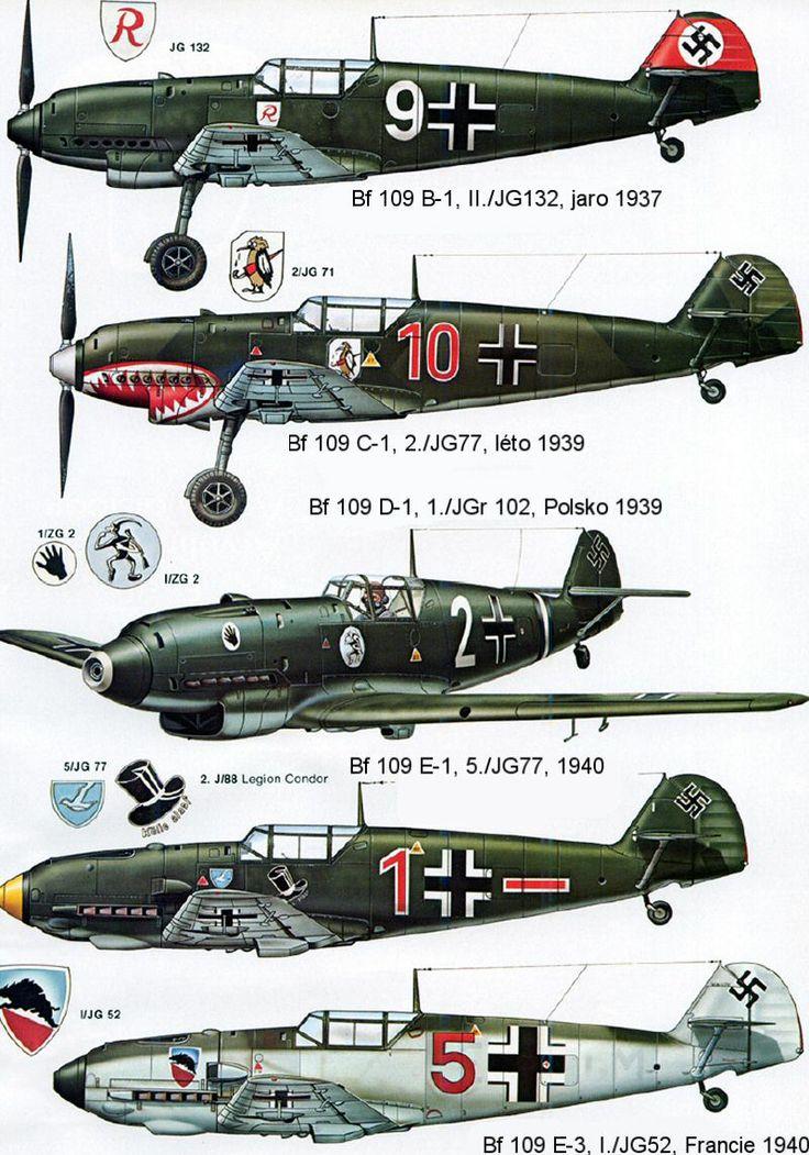 1935-1945 Messerschmitt Bf 109. Luftwaffe, HAF, ANP, RRAF - Fighter. Engine…