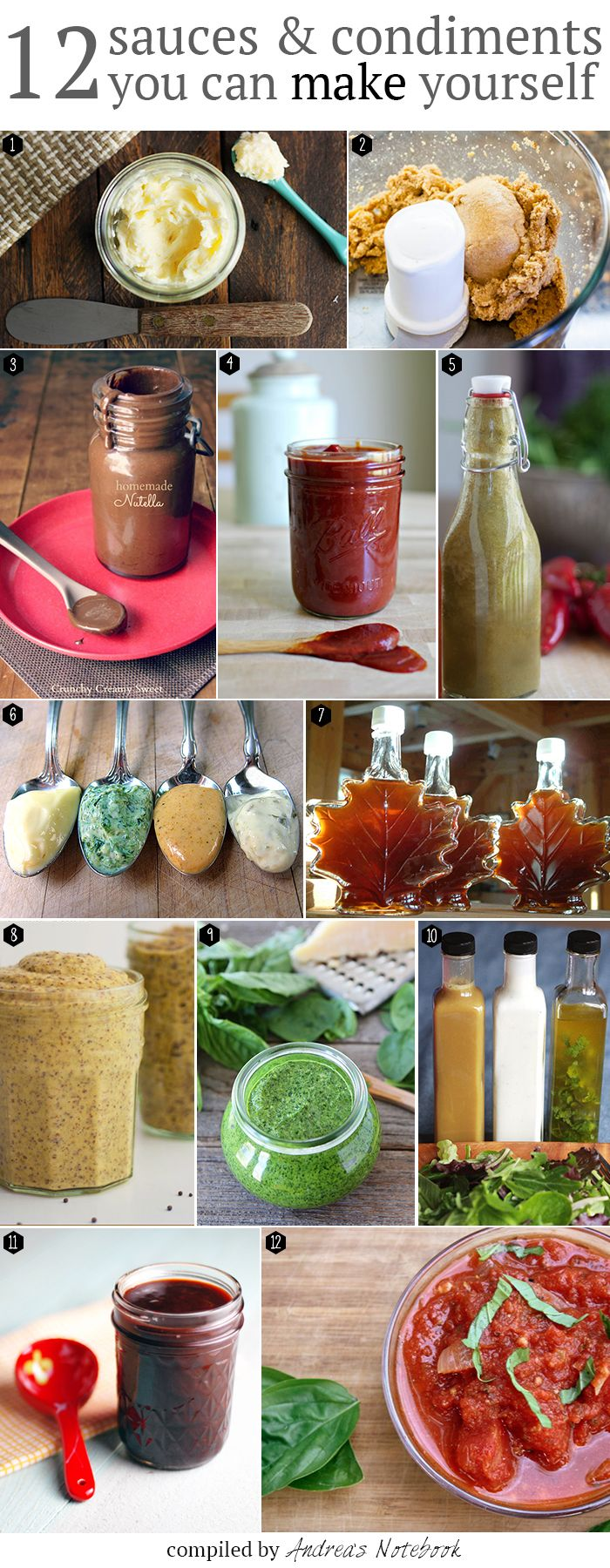 12 condiments and sauces you should be making yourself!