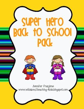 If you are doing a Superhero theme in your classroom this is ideal for you.  It includes desk tags, restroom passes,Hero folder sheet, calendar mon...