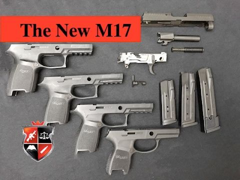 Liked on YouTube: First look at the NEW M17 Service Pistol Sig P320