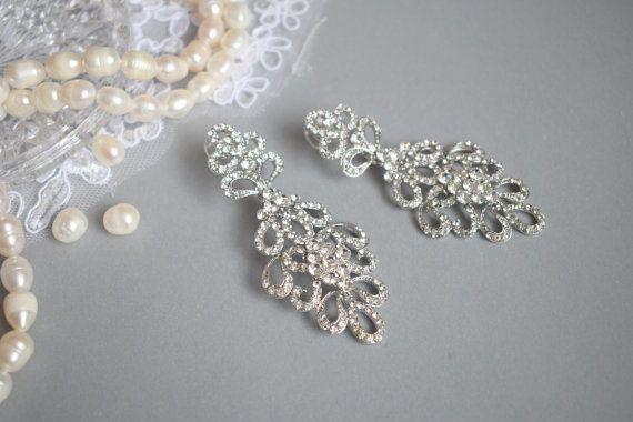 Bridal earring Drop Dangle Earring Wedding Earring Vintage