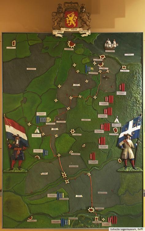 Maquette van de Oude Hollandse Waterlinie (Collectie Legermuseum)
