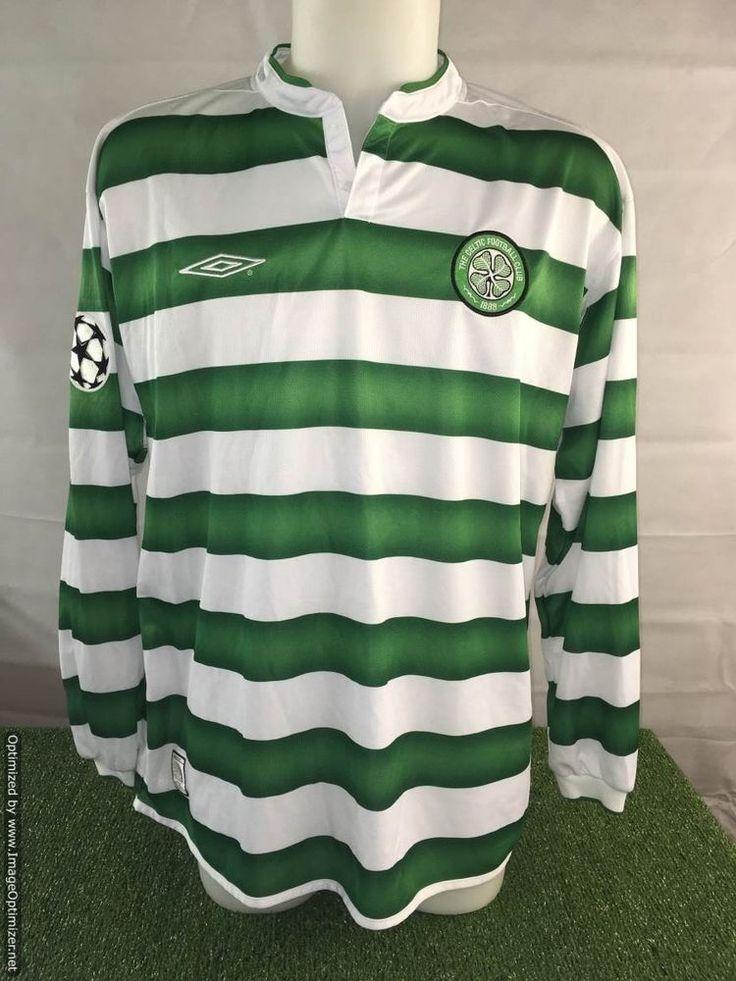Chris Sutton Match Worn UCL Celtic Shirt v Lyon - Football Rare Memorabilia