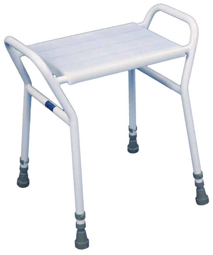 The Adjustable Shower Seat is a high quality shower stool designed for heavy duty use. The Strood Shower Stool is adjustable in height to suit most users and features sturdy, integral side handles to aid transfer. The Strood Shower Stool has the added benefit of a clip-on/clip-off seat, making it simple to clean and reissue if required. The water outlets of the Strood fully conform to the MHRA guidelines, 1990 and 2004.