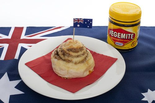 Cheesymite Scroll -- like a cinnamon roll except with Vegemite & cheese