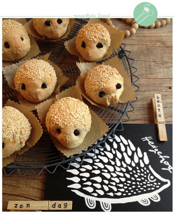 hedgehog bread rolls at April and May MINI