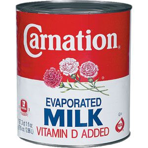 carnation milk with a tin of fruit or jelly usually on Sunday tea time