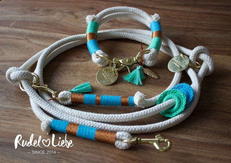 Halsband LITTLE RIO / Leine HAPPY BIRD  Hunde Halsbänder aus Tauwerk individuell zusammenstellen. Be Hippie!  www.rudelliebe.de