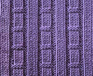 Fast Tracks & Hurdles - Knitting Pattern Stitch - Written instructions and chart.