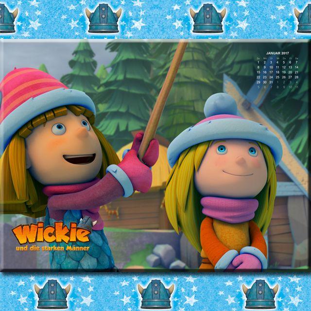 """Januar: Dein """"Wickie und die starken Männer"""" Hintergrundbild für den Januar zum kostenlosen Download für dein Tablet, Smartphone oder PC! Viele weitere Wallpaper findest Du auch bei uns!"""