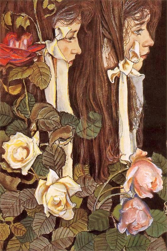 Stanisław Wyspiański, Eliza Pareńska - dual portrait, 1905