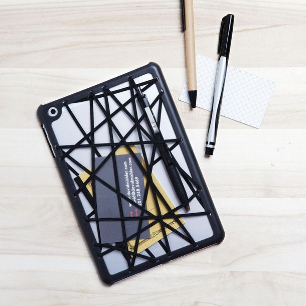 This bumper case is great design -- fun to look at (I like string art and elastic) and uber-useful .  By Quirky.
