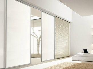 Mampara divisoria de vidrio lacado con puertas corredizas MAGICA - Doimo CityLine