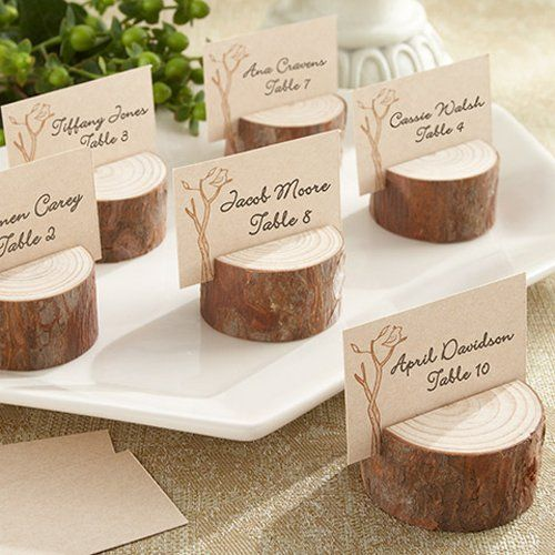Rustic Real Wood Place Card/Photo Holders