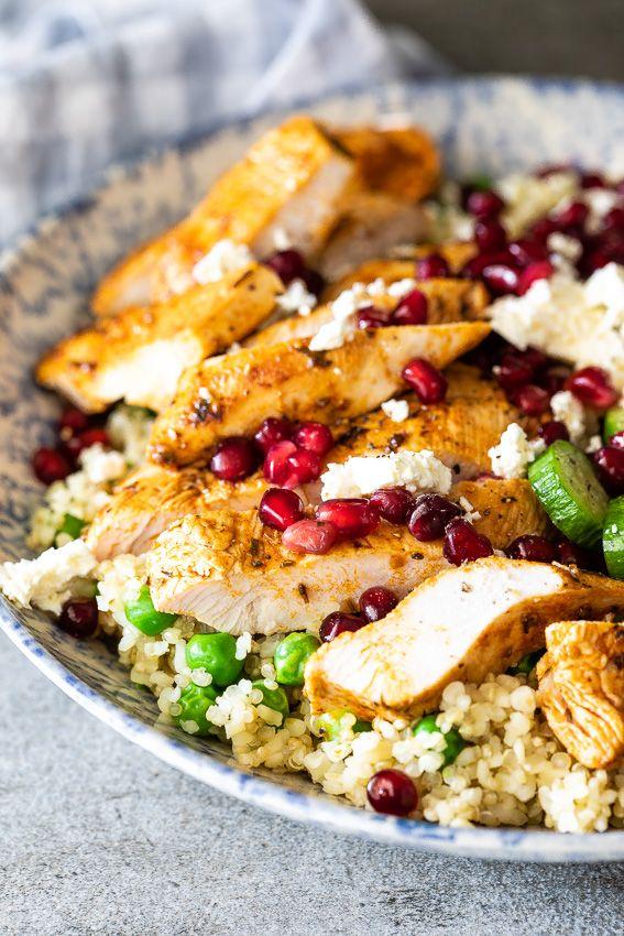 Chicken Quinoa Salad With Peas And Feta Recipe Easy Lunch