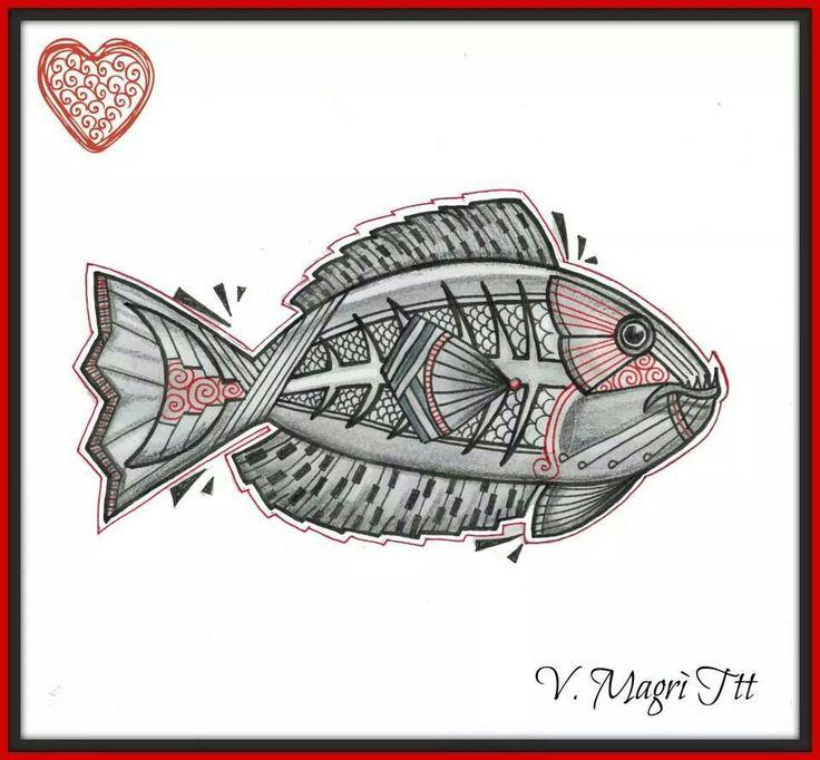 Fish pesce - flash idee per tatuaggio tattoo - by Valentina Magrì